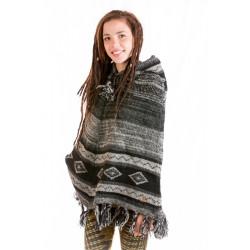 black-poncho-wool-knitted-peru-longhood-design-moskitoo-india-kult