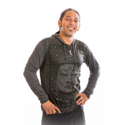 Aztec Bhuddha Hooded T-shirt