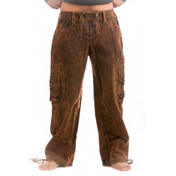 Pilgrimage Pants Tough stonewash trousers.