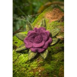 Violet Blossom Felt Hairband