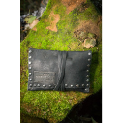 Studded Leather Tobacco Pouch