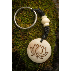 White Lotus Flower Keyring
