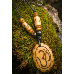 Natural Long Om Necklace