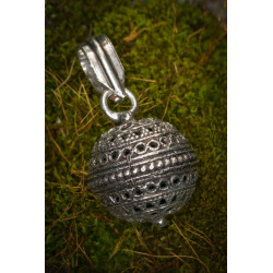 Silver Brass Singing Bell Charm