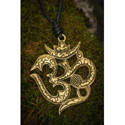 Bronze Om Brass Necklace
