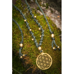 Flower of Life Small Brass Necklace