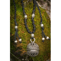 Singing Bell Silver Brass Necklace