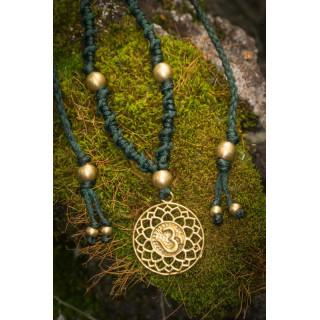 Om In Sphere Brass Necklace