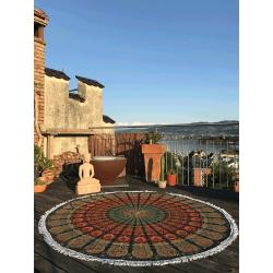 Mandala Roundie Peacock