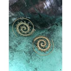 Venus Spiral Ohrringe Gold