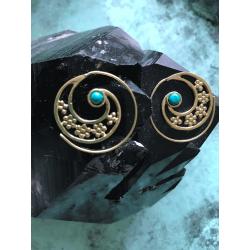 Tribal Spiral Earrings.