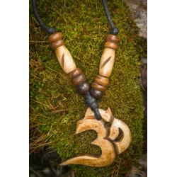 Natural Bone Om Necklace