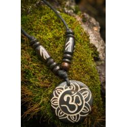 Om Lotus Bone Necklace Nepal Moskitoo India Kult