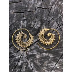 Amara Spiral Earrings