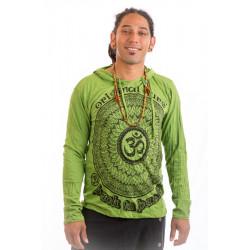 Long sleeve hooded  sure t-shirt Thailand green by moskitoo india kult