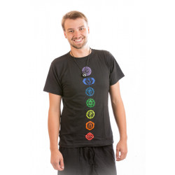 Chakra t-shirt cotton moskitoo india kult black