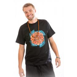 Om World Spirit T-shirt black Moskitoo india kult