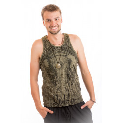 Cotton Sketchy Elephant Singlet Men Sure