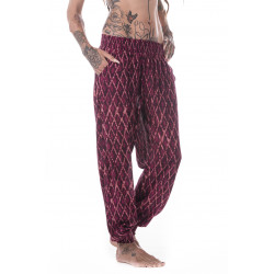Ariel Pants Plum Velvet Viscose Moskitoo india Kult