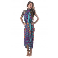 Sarong Attraction Viskose Türkis Kleid Moskitoo India Kult