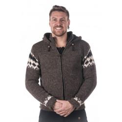 Lhasa Wool Jacket  Moskitoo India Kult Natural Brown