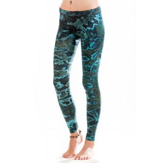 Batik Leggings Moskitoo - Hypnosis Leggings - River Light  Blue Lagoon