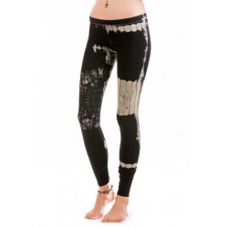 Batik Leggings Moskitoo - Hypnosis Leggings - Art Canvas- Black