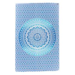 Mandala Tuch Udaipur Blau Moskitoo India Kult