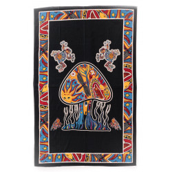 Mushroom Wallhanging Black Moskitoo India Kult