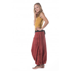 Indian Harem Pants Red Cotton Moskitoo India Kult