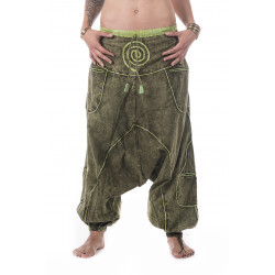 Indian Harem Pants Fern Green Cotton Moskitoo India Kult
