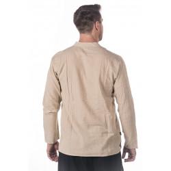 Cotton neckless shirt antique white moskitoo