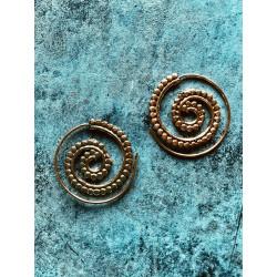 Chakra Spiral Ohrringe