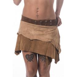 Tribe Leather Mini Skirt