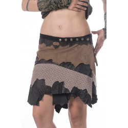 Kodava Tribe Leather Miniskirt