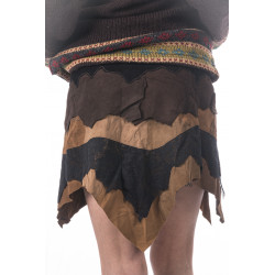 Moon Tribe Leather Miniskirt