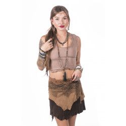 Nyshis Tribe Leather Skirt