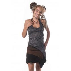 Warli Tribe Leather Miniskirt
