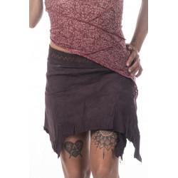 Toda Tribe Leather Mini Skirt