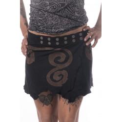 Bodo Tribe Leather Miniskirt