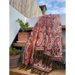 paisley-blanket-scarf-stola-shawl--moskitoo.india.kult-red-cream