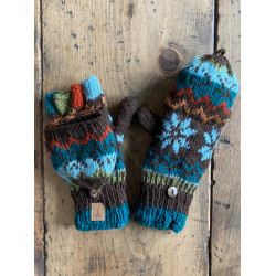 wool-gloves-knitted--sheepwool-azure-braun-blue-unisex-gloves-no-finger-cap-moskitoo-india-kult