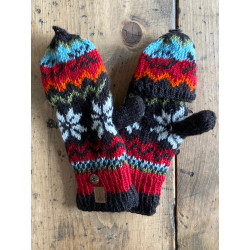 wool-gloves-knitted--sheepwool-azure-red-black-turquoise-unisex-gloves-no-finger-cap-moskitoo-india-kult