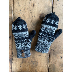 wool-gloves-knitted--sheepwool-stripe-blue-grey-unisex-gloves-no-finger-cap-moskitoo-india-kult