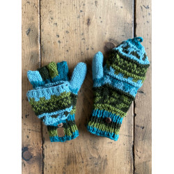 wool-gloves-knitted--sheepwool-turquoise-green-unisex-gloves-no-finger-cap-moskitoo-india-kult