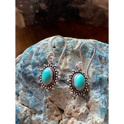 earrings-turqoisestone-brass-silver-plated