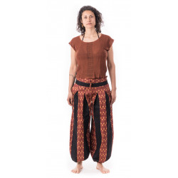 Zulu-pants-cotton-black-red-pattern-moskitoo-india-kult