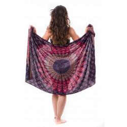 mandala-sarong-lungi-pareo-burgundy-pink-summer-beach-dress-yoga-towel-moskitoo-india-kult