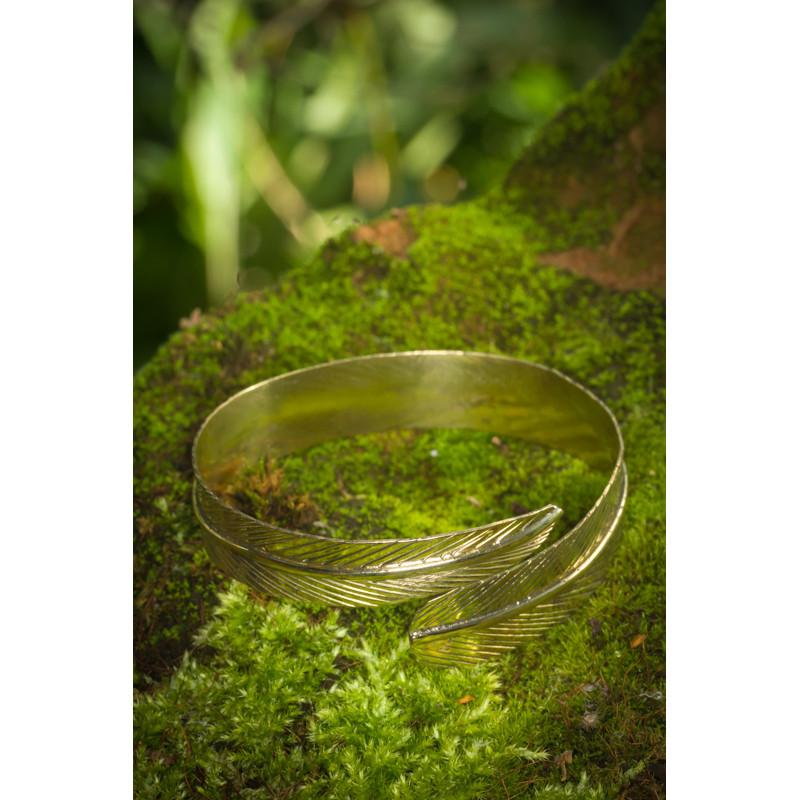 Golden Eagle Feather Bracelet