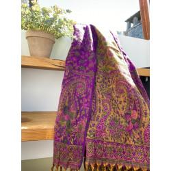paisley-scarf-purple-green-blanket-moskitoo-india-kult-rorschach-schweiz